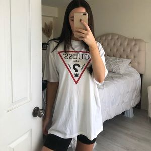 Guess t shirt graphic white
